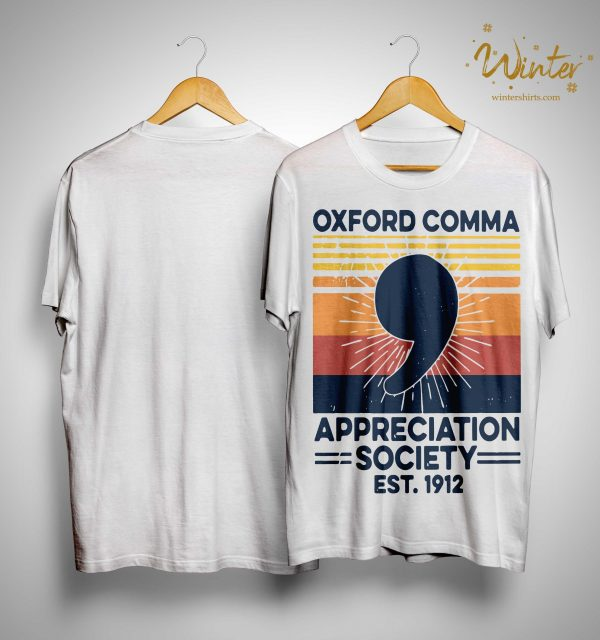 Vintage Oxford Comma Appreciation Society Est 1912 Shirt