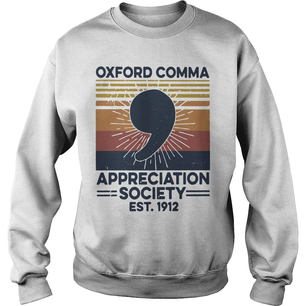 Vintage Oxford Comma Appreciation Society Est 1912 Sweater