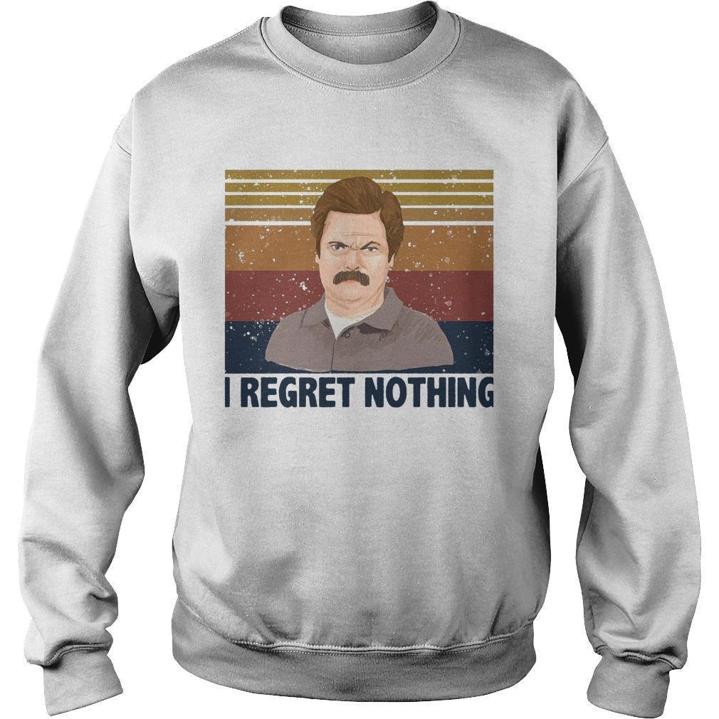 Vintage Ron Swanson I Regret Nothing Sweater