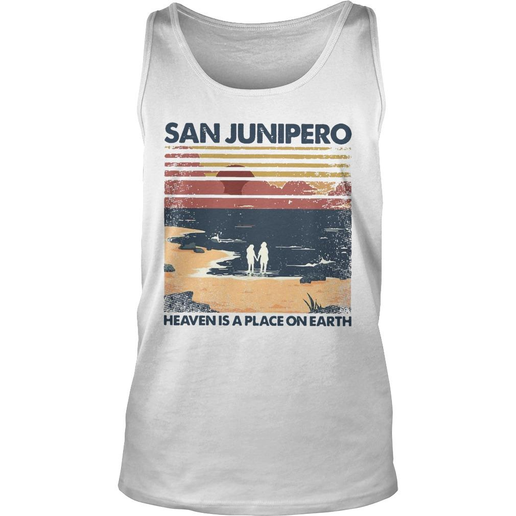 Vintage San Junipero Heaven Is A Place On Earth Tank Top