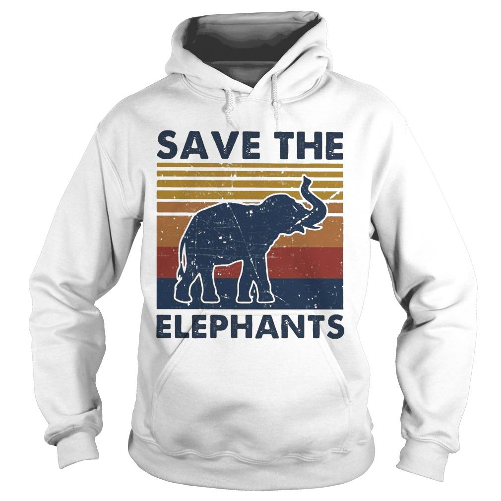 Vintage Save The Elephants Hoodie