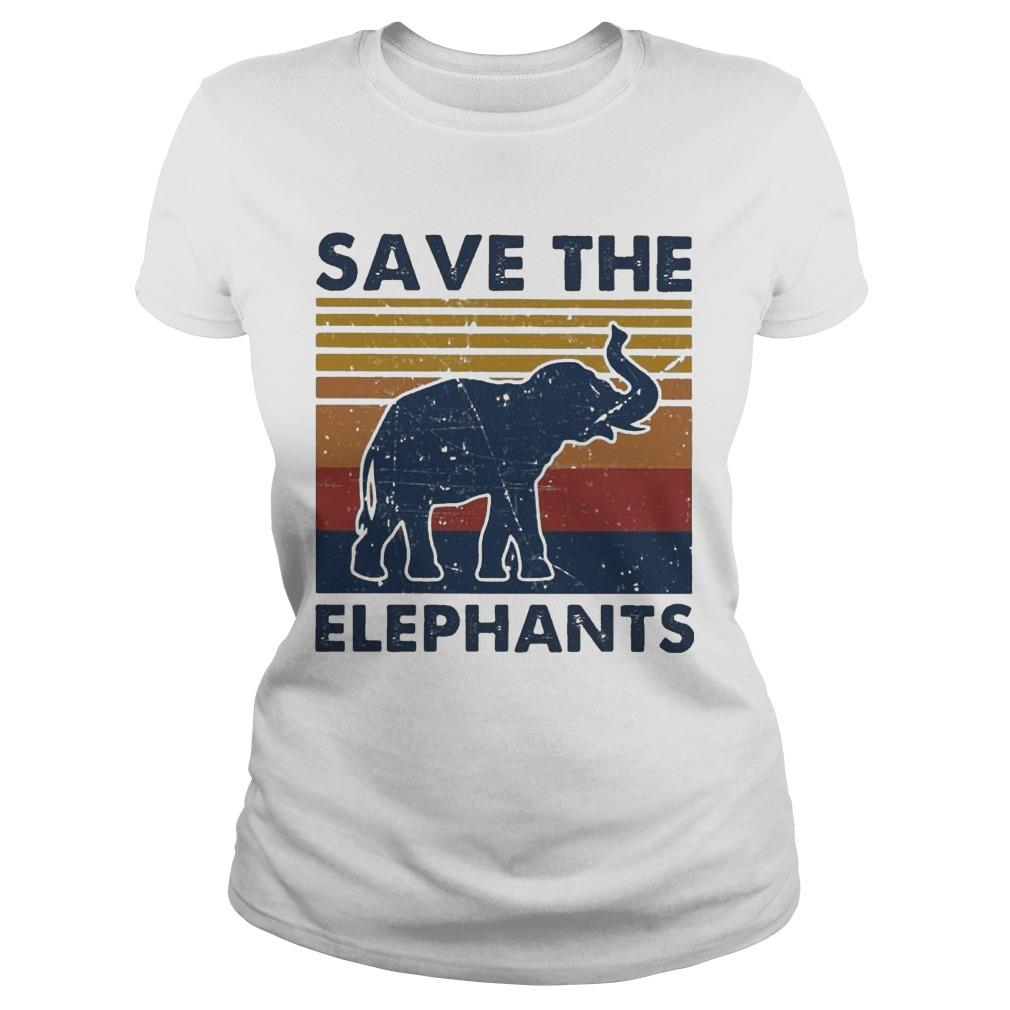 Vintage Save The Elephants Longsleeve