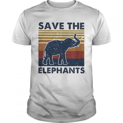 Vintage Save The Elephants Shirt