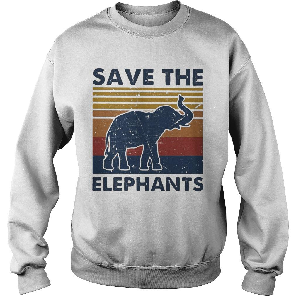 Vintage Save The Elephants Sweater