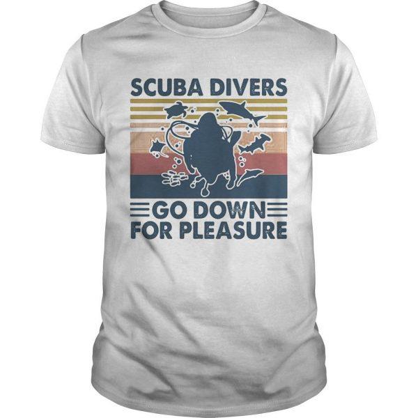 Vintage Scuba Divers Go Down For Pleasure Shirt