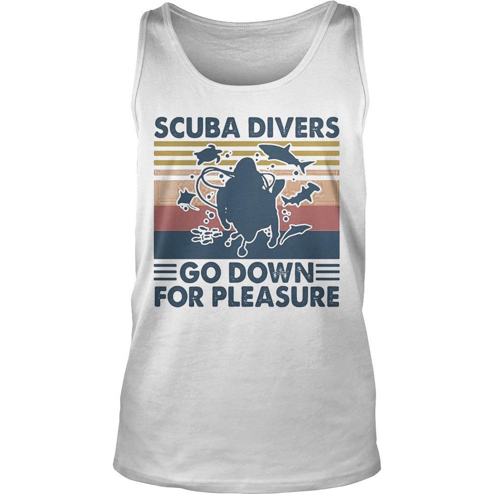 Vintage Scuba Divers Go Down For Pleasure Tank Top