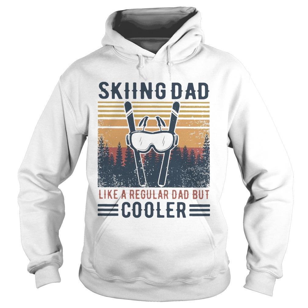 Vintage Skiing Dad Like A Regular Dad But Cooler Hoodie