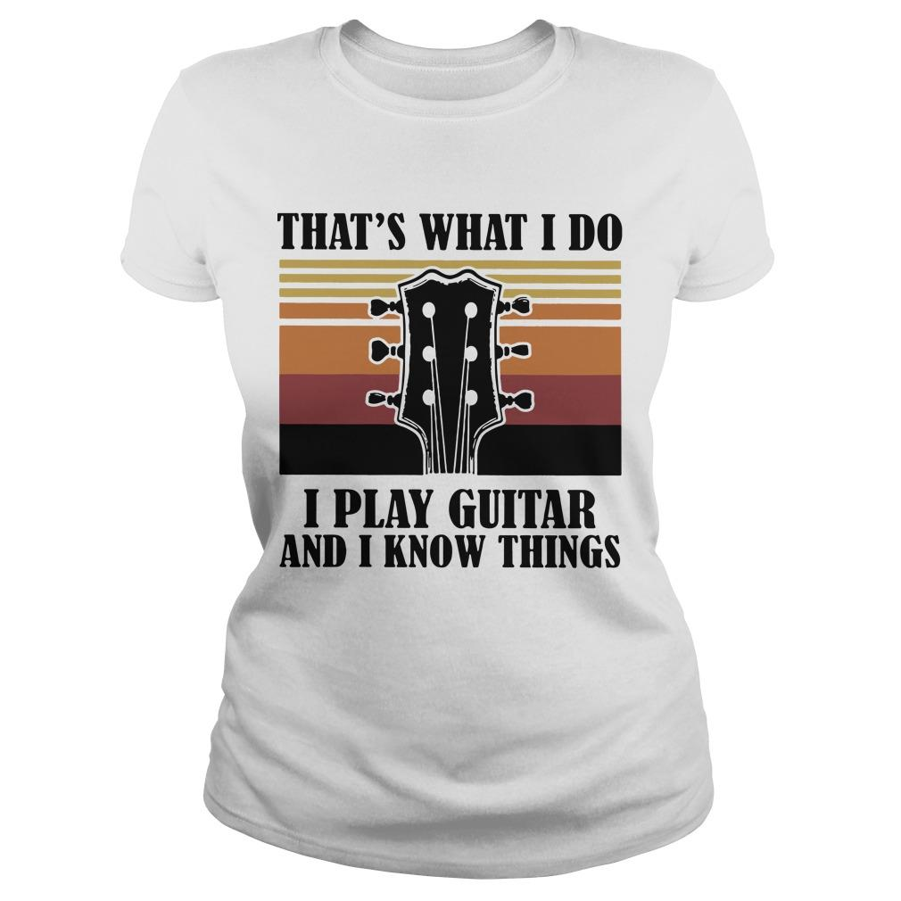Vintage That's What I Do I Play Guitar And I Know Things Longsleeve