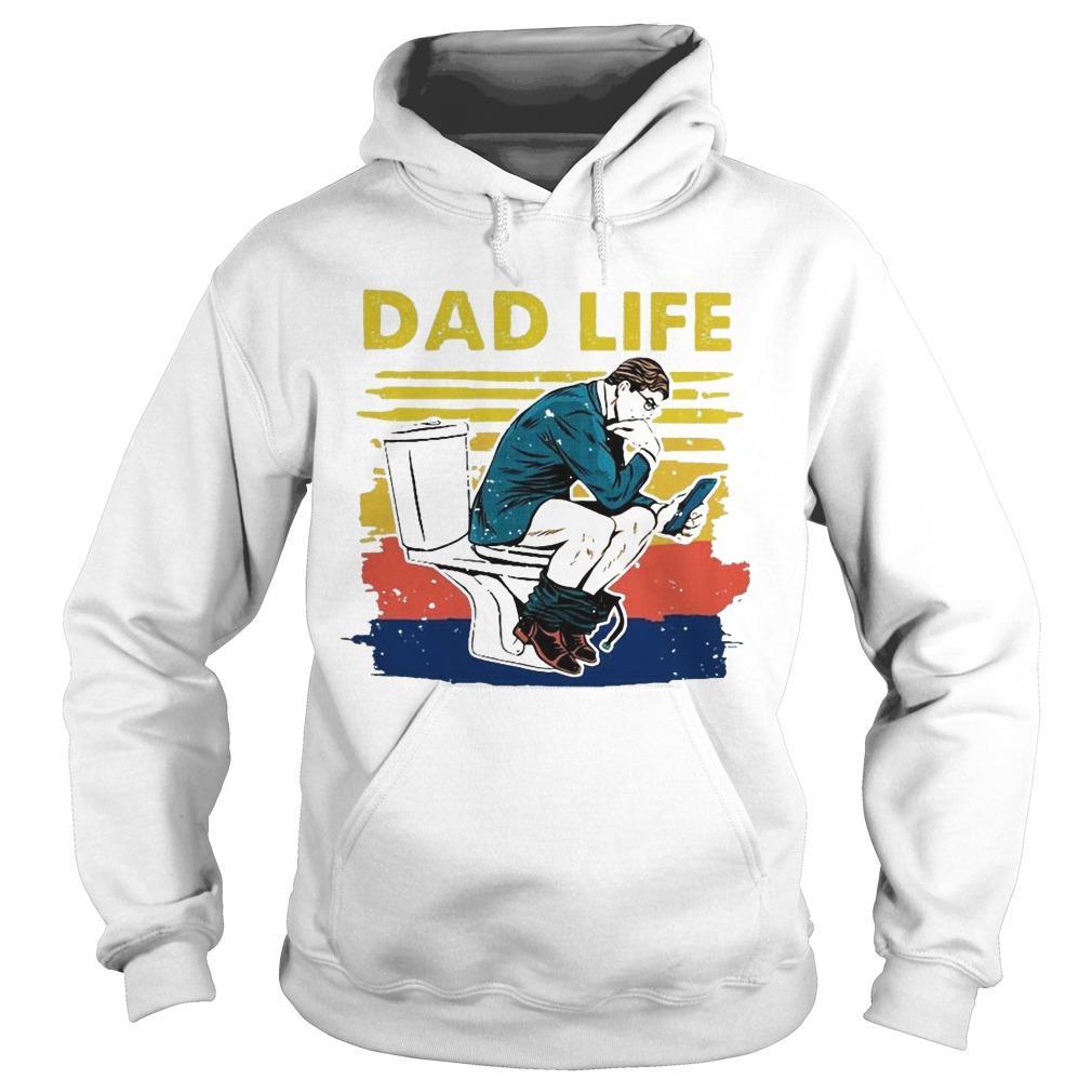 Vintage Toilet Dad Life Hoodie