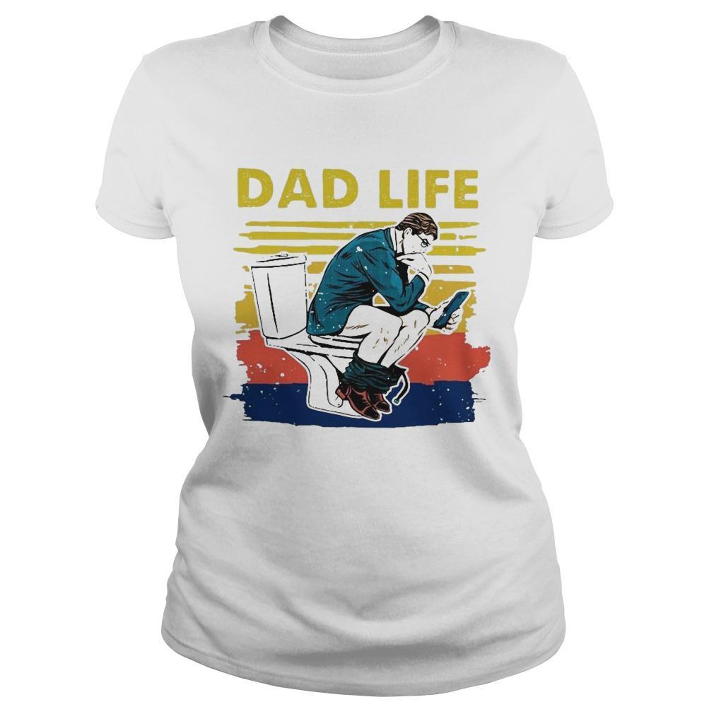 Vintage Toilet Dad Life Longsleeve