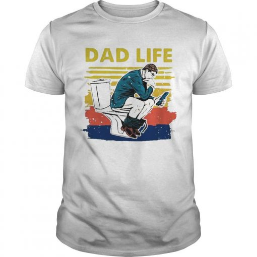Vintage Toilet Dad Life Shirt