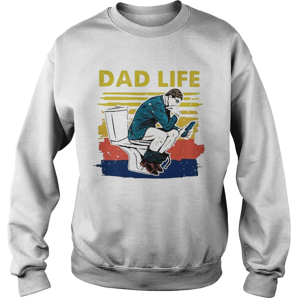 Vintage Toilet Dad Life Sweater