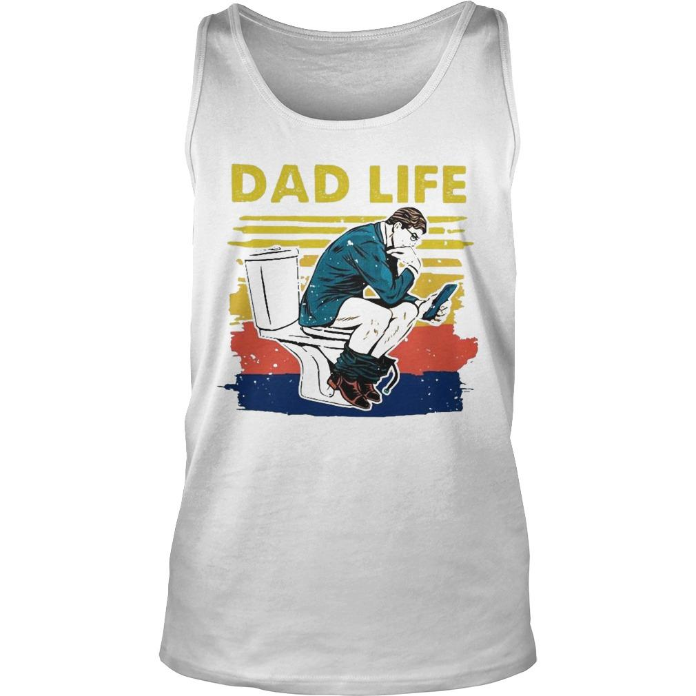 Vintage Toilet Dad Life Tank Top