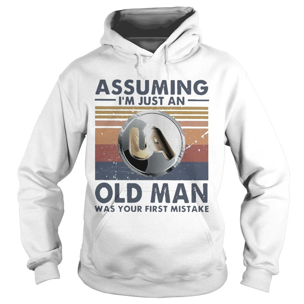 Vintage United Association Assuming I'm Just An Old Man Hoodie