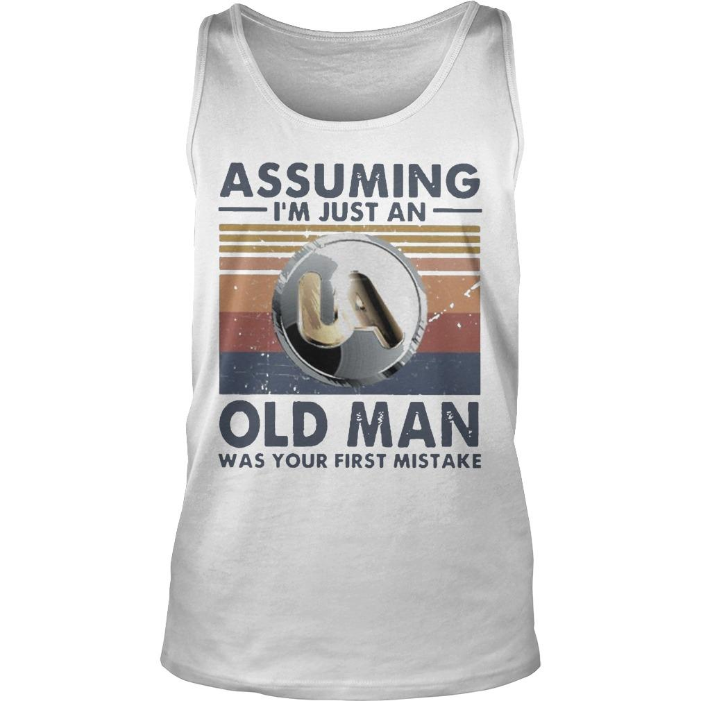 Vintage United Association Assuming I'm Just An Old Man Tank Top