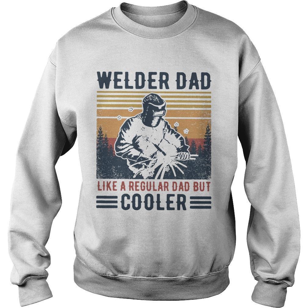 Vintage Welder Dad Like A Regular Dad But Cooler Sweater