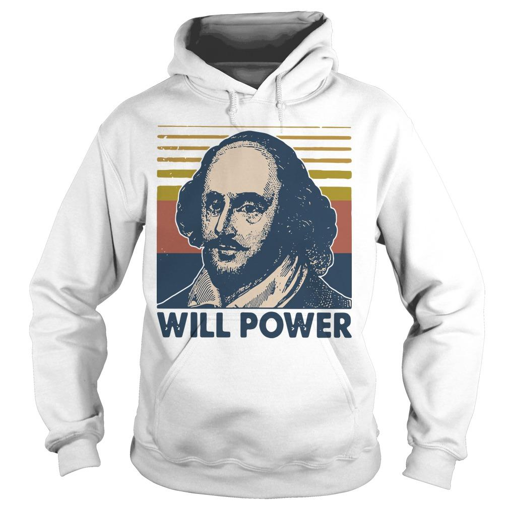 Vintage William Shakespeare Will Power Hoodie
