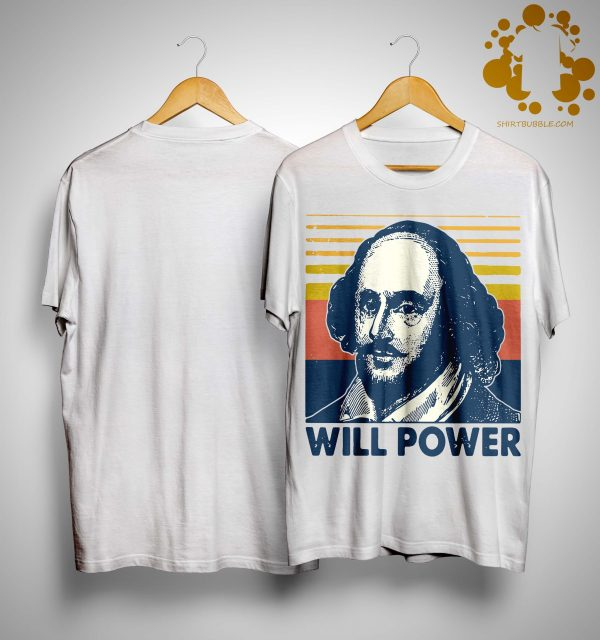 Vintage William Shakespeare Will Power Shirt