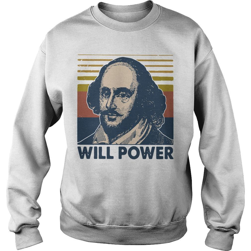 Vintage William Shakespeare Will Power Sweater