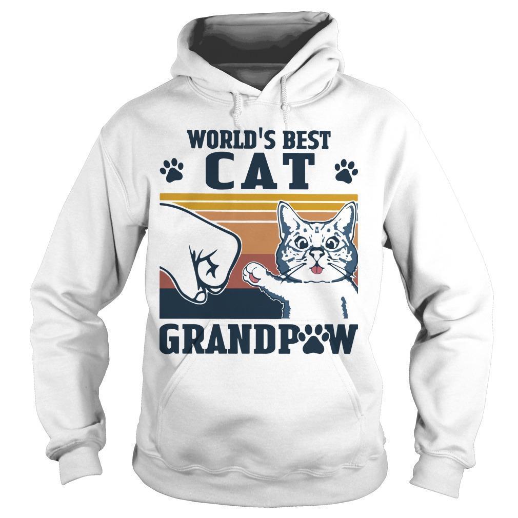 Vintage World's Best Cat Grandpaw Hoodie