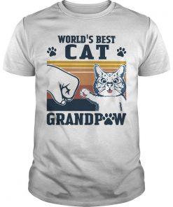 Vintage World's Best Cat Grandpaw Shirt