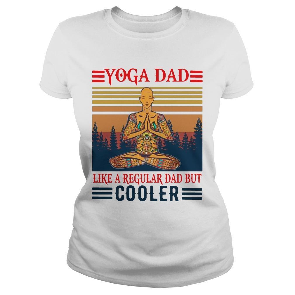 Vintage Yoga Dad Like A Regular Dad But Cooler Longsleeve