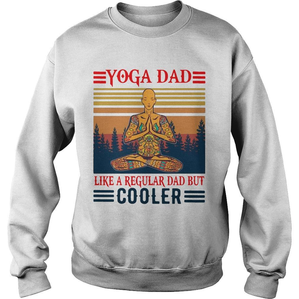 Vintage Yoga Dad Like A Regular Dad But Cooler Sweater