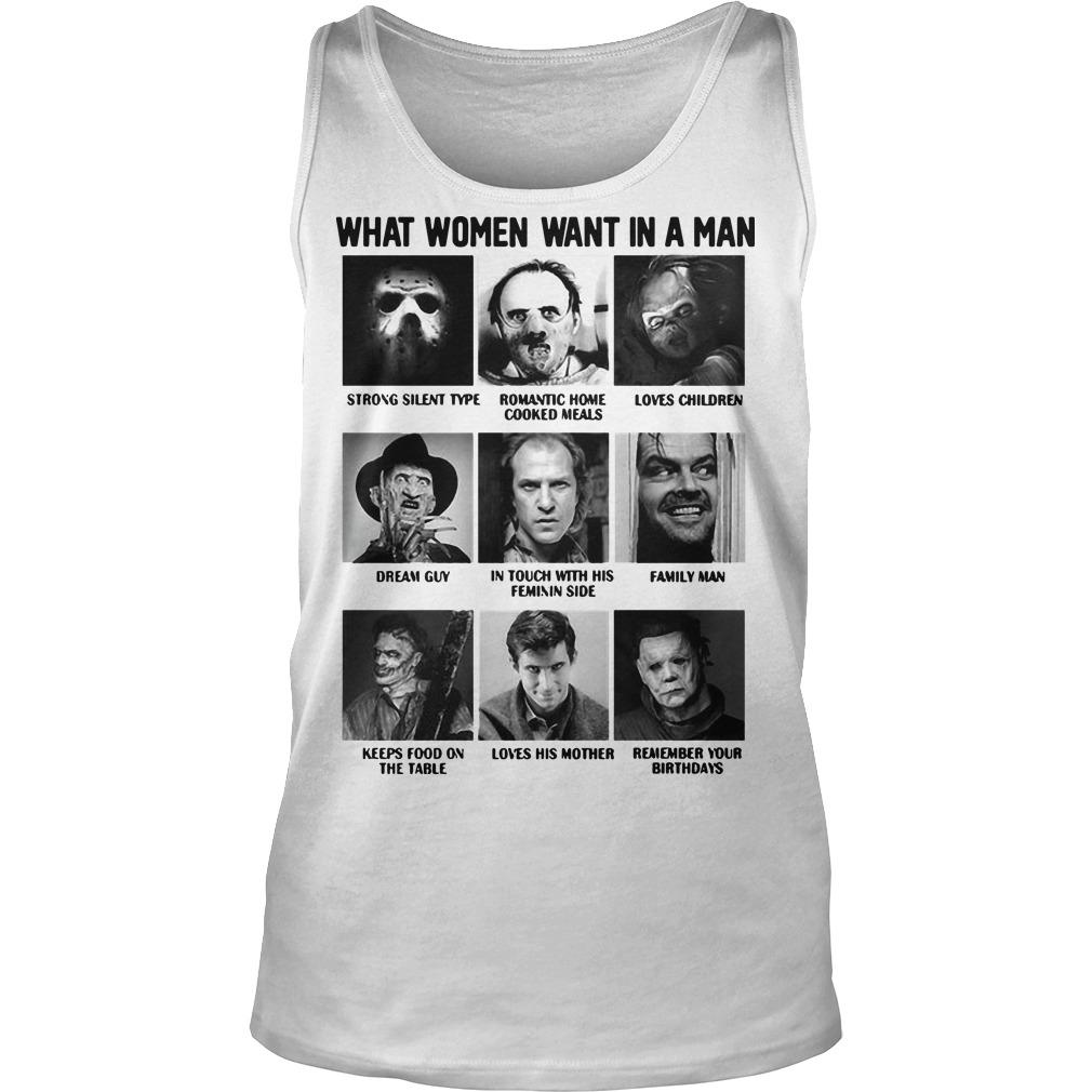 What Women Want In A Man Strong Silent Type Loves Children Tank Top