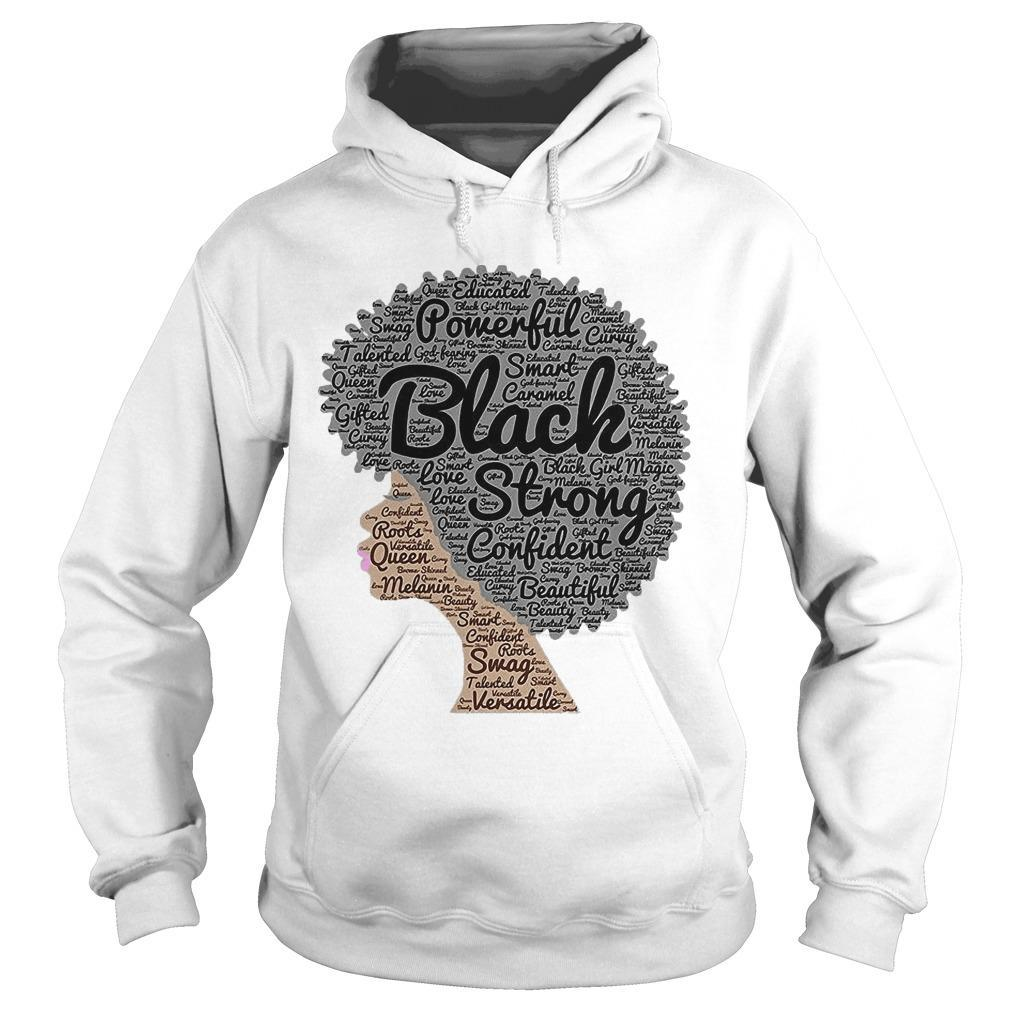 Woman Powerful Black Strong Confident Beautiful Hoodie