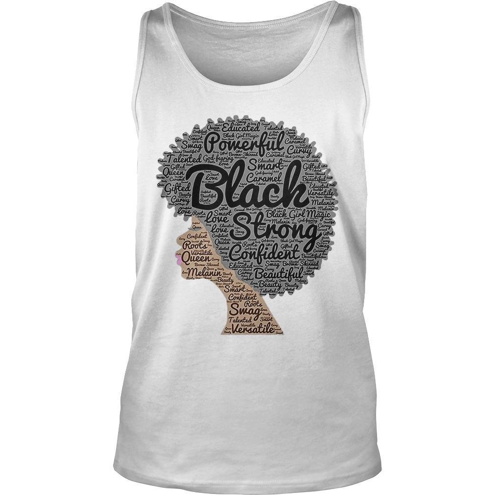 Woman Powerful Black Strong Confident Beautiful Tank Top