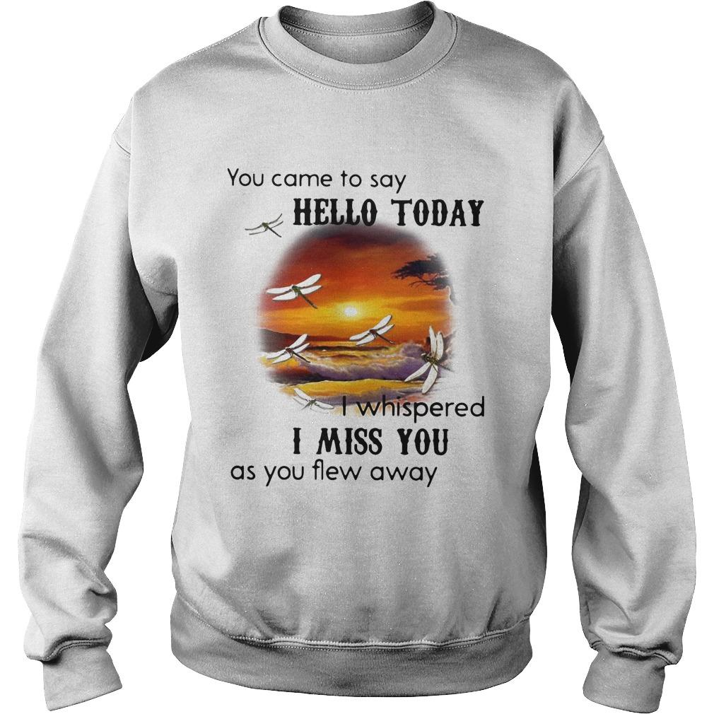 You Came To Say Hello Today I Whispered I Miss You As You Flew Away Sweater