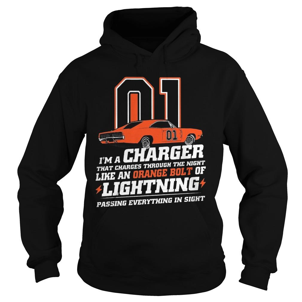 01 I'm A Charger That Charges Through The Night Like An Orange Bolt Hoodie