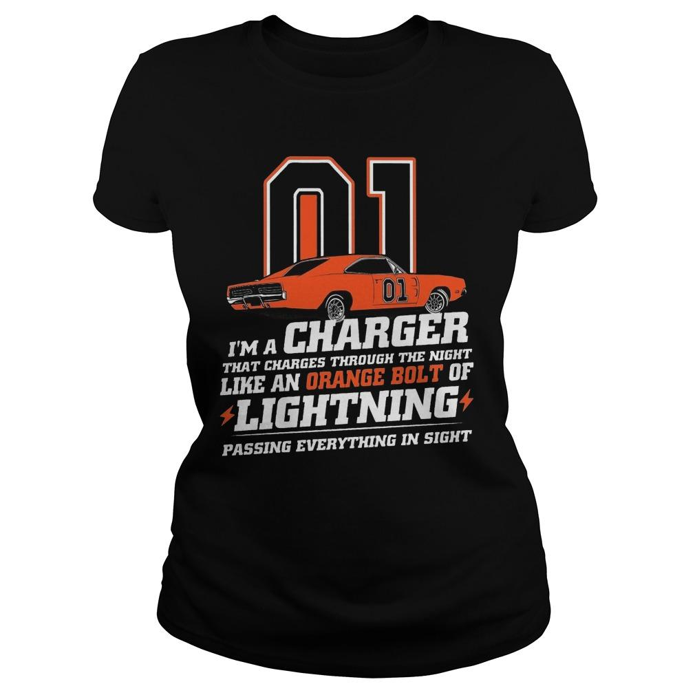01 I'm A Charger That Charges Through The Night Like An Orange Bolt Longsleeve