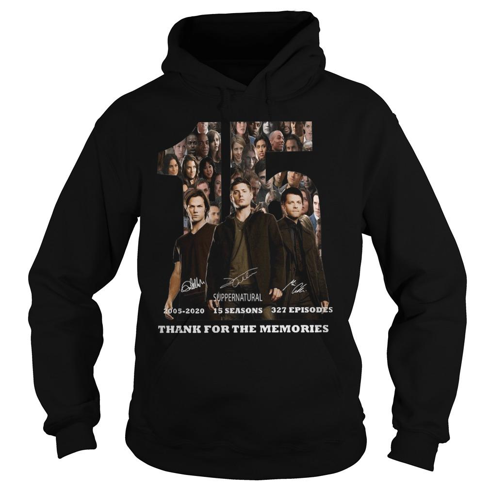 15 Supernatural 2005 2020 Thank You For The Memories Hoodie