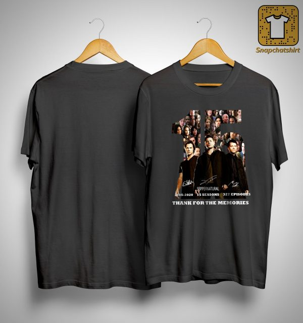 15 Supernatural 2005 2020 Thank You For The Memories Shirt
