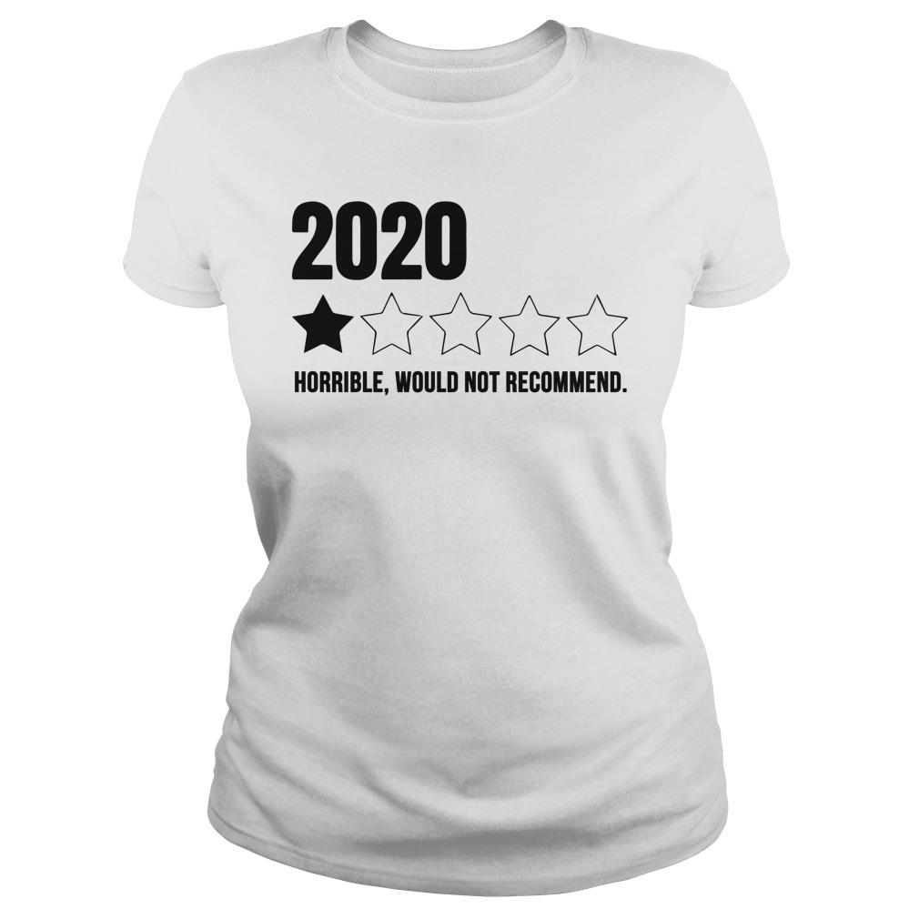 2020 One Star Horrible Would Not Recommend Tank Top