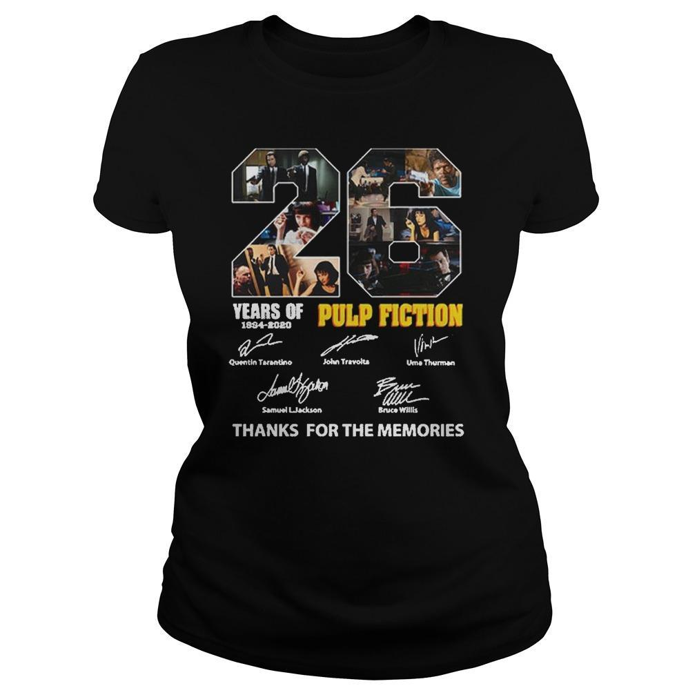 26 Years Of Pulp Fiction 1994 2020 Thank You The Memories Signatures Longsleeve