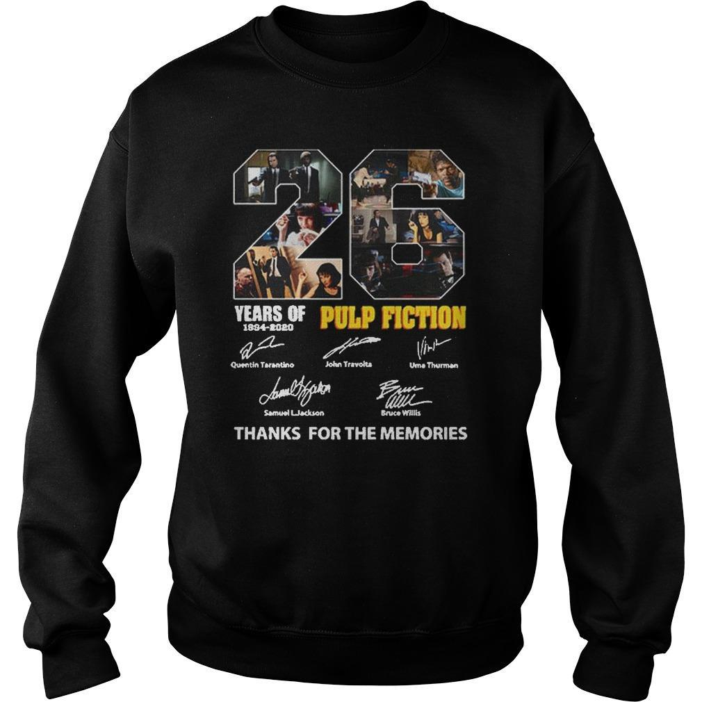 26 Years Of Pulp Fiction 1994 2020 Thank You The Memories Signatures Sweater