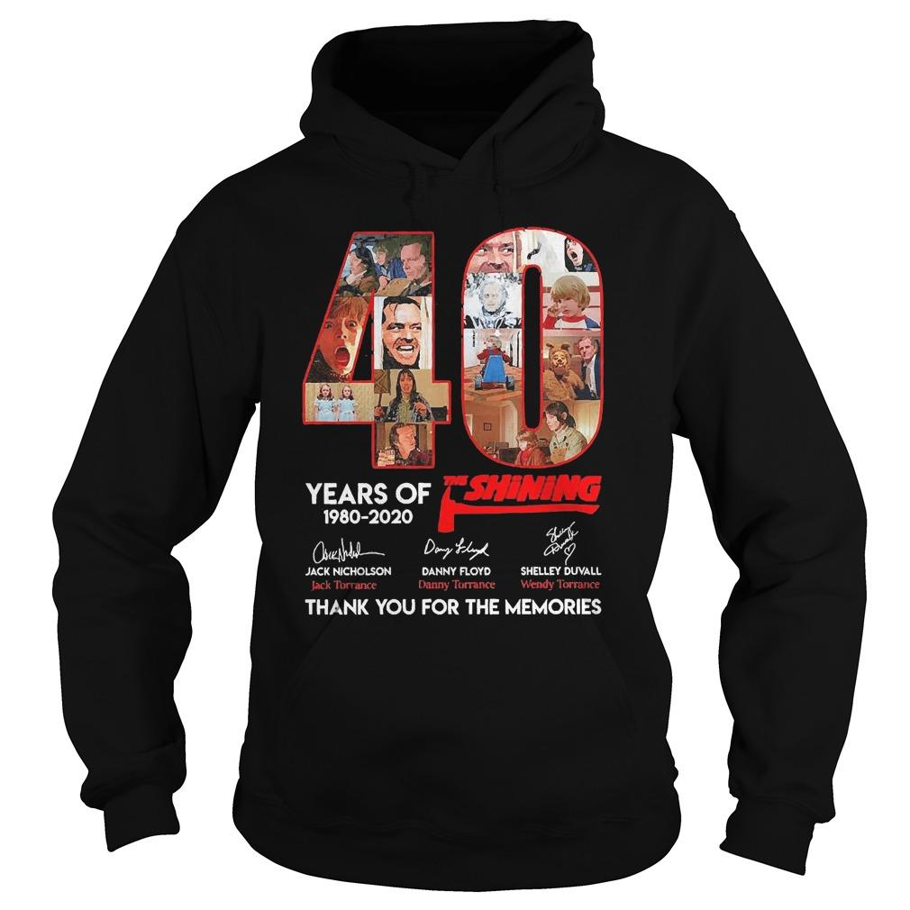 40 Years Of The Shining 1980 2020 Thank You For The Memories Hoodie