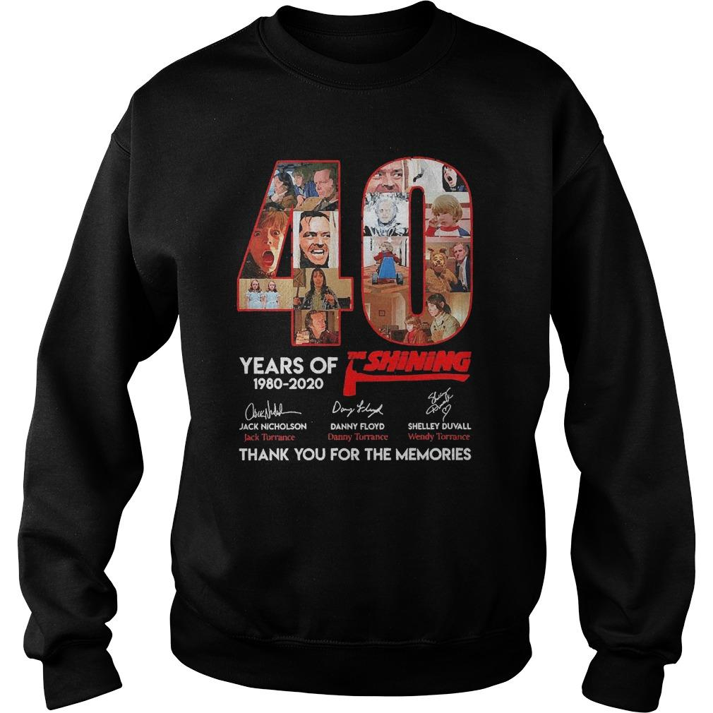 40 Years Of The Shining 1980 2020 Thank You For The Memories Sweater