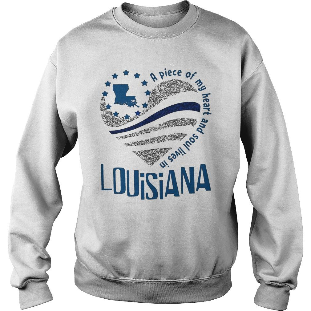 A Piece Of My Heart And Soul Lives In Louisiana Sweater
