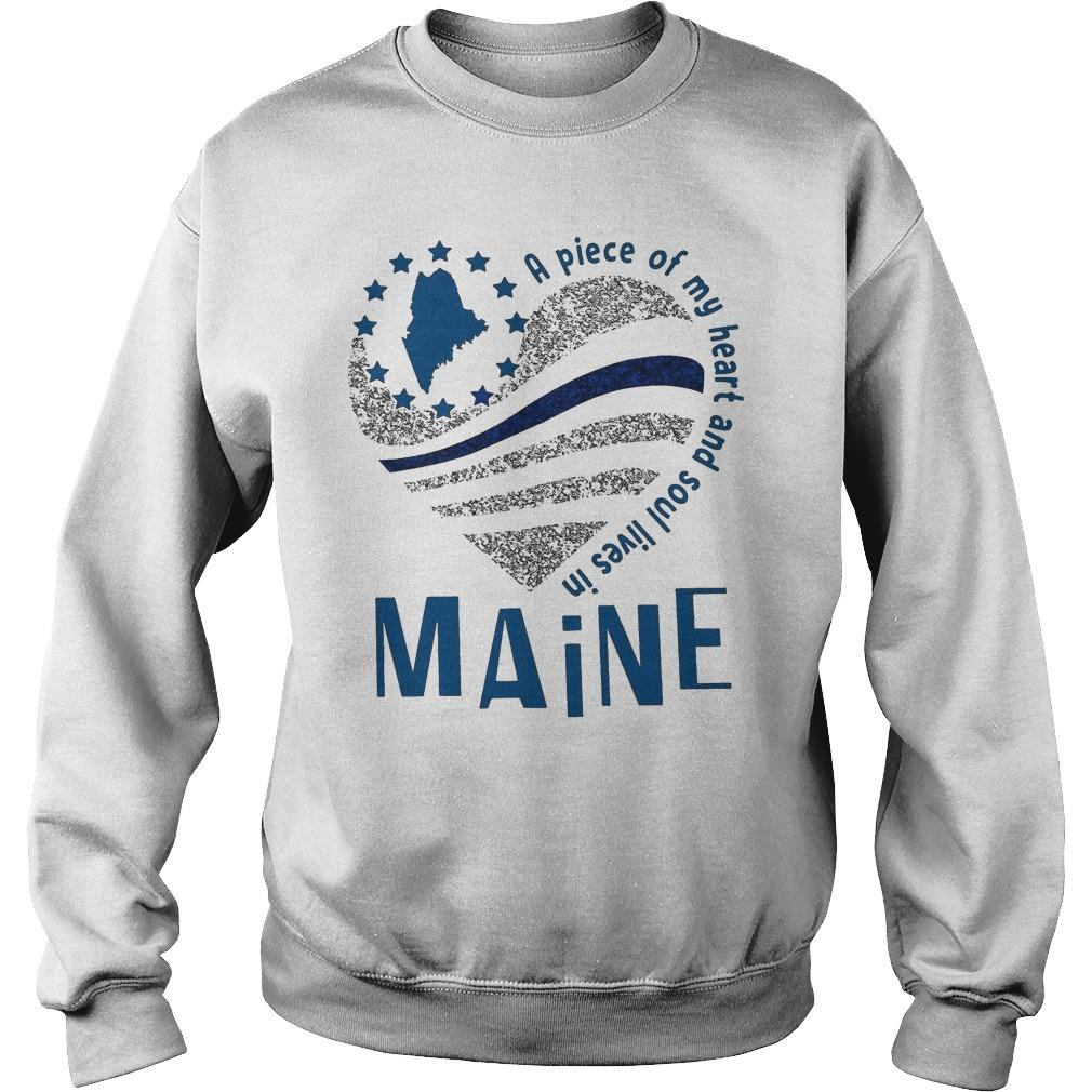 A Piece Of My Heart And Soul Lives In Maine Sweater