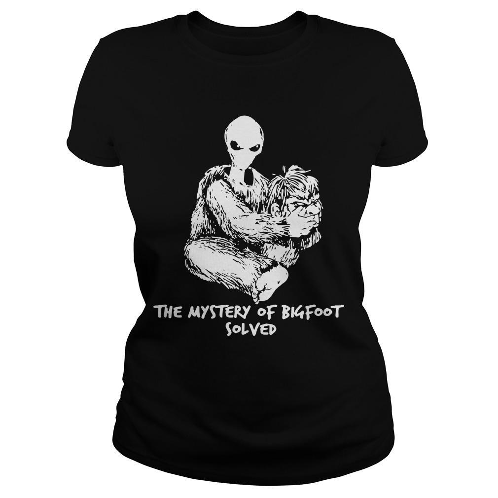 Alien The Mystery Of Bigfoot Solved Hoodie