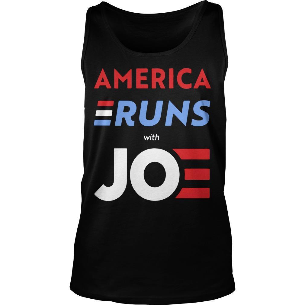 America Runs With Joe Biden Tank Top