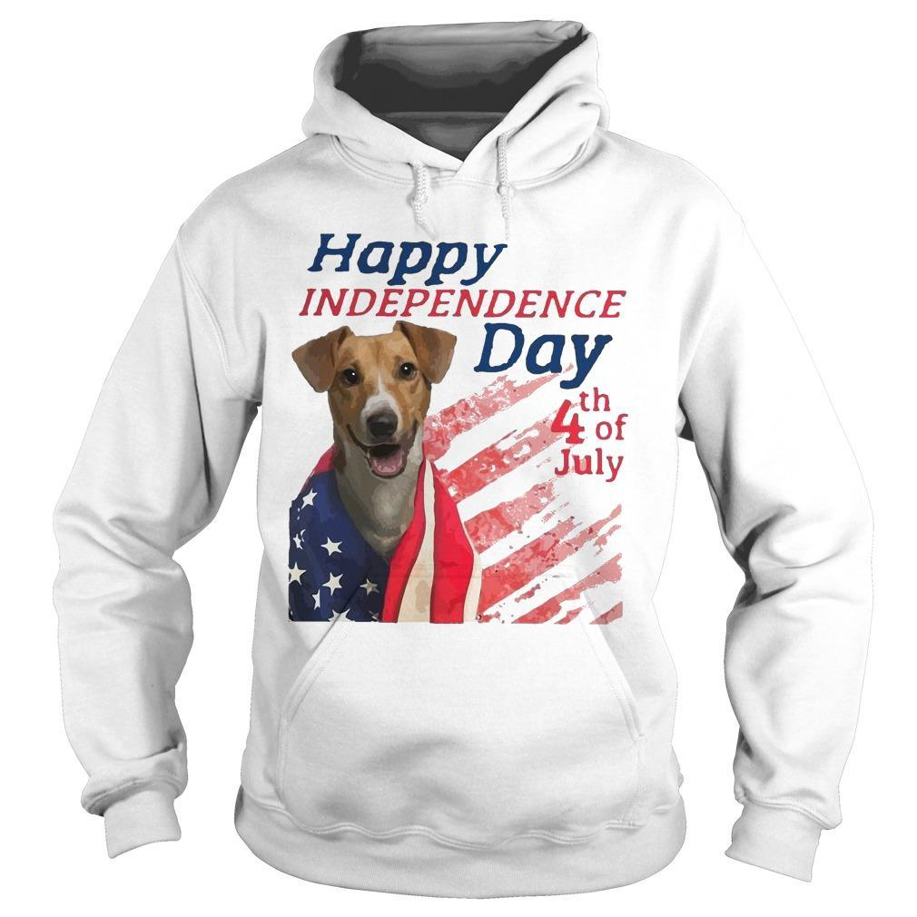 American Flag Jack Russell Terrier Happy Independence Day 4th Of July Hoodie