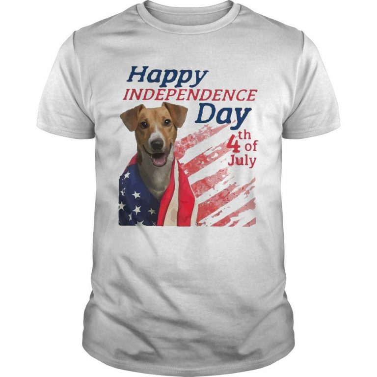 American Flag Jack Russell Terrier Happy Independence Day 4th Of July Shirt