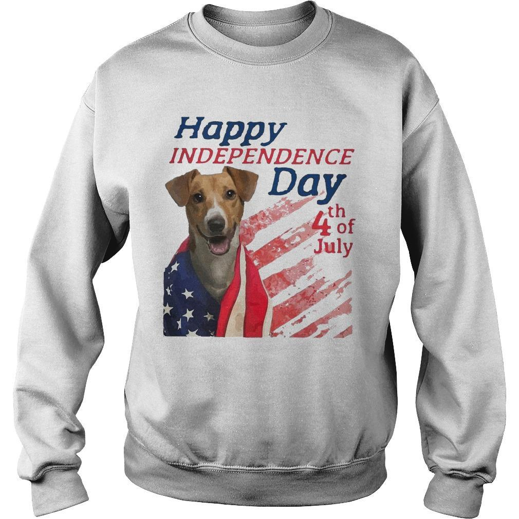 American Flag Jack Russell Terrier Happy Independence Day 4th Of July Sweater