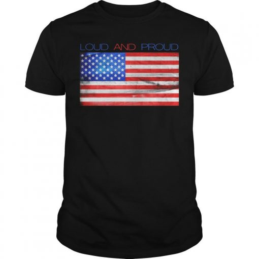 American Flag Loud And Proud Shirt