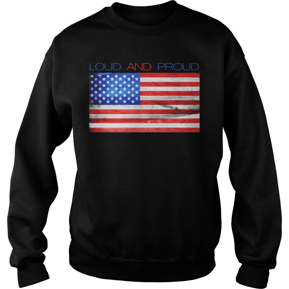 American Flag Loud And Proud Sweater