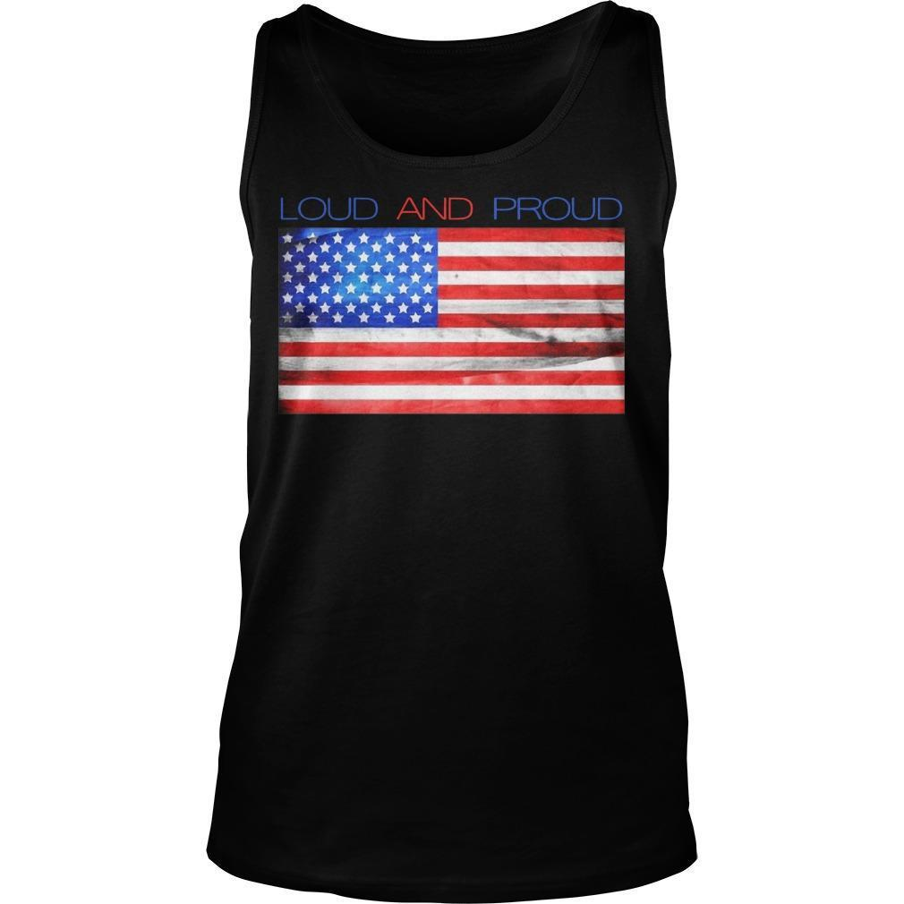 American Flag Loud And Proud Tank Top
